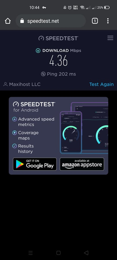 Betternet slow speeds